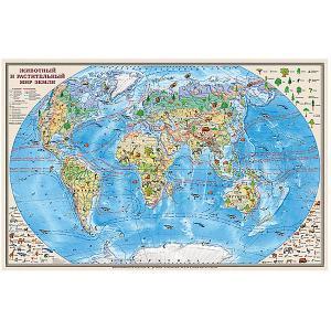 Карта Животный и растительный мир Земли 1:35М Издательство Ди Эм Би