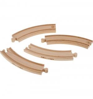 Игровой набор  Закругленные элементы для деревянной железной дороги Eichhorn