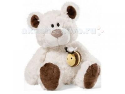 Мягкая игрушка  Медвежонок кремовый сидячий с пчелкой на магните 50 см Nici