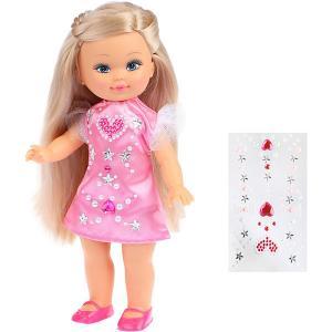 Кукла Наша Игрушка Мой милый пушистик Элиза, 25 см, с наклейками Mary Poppins. Цвет: розовый