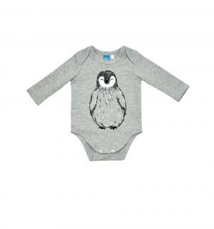 Боди  Пингвин, цвет: серый The hip!