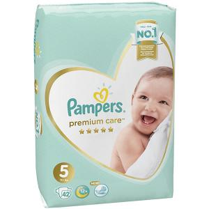 Подгузники  Premium Care 11+ кг, 42 шт Pampers. Цвет: weiß/beige