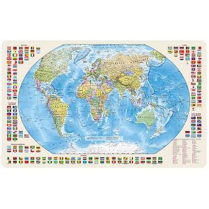 Карта Мира, Политическая с флагами 1:85М магнитными креплениями Издательство Ди Эм Би