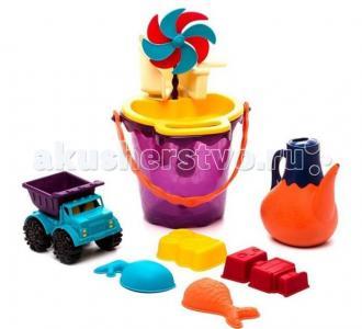 B.Summer Игровой набор для песка в сумке фиолетовый Battat