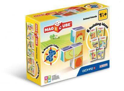 Конструктор  магнитный MagiCube Друзья зверушки (7 деталей) Geomag