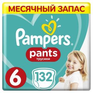 Трусики-подгузники  Pants, р. 6, 15+ кг, 132 шт Pampers