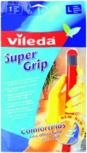 Перчатки  с нескользящим покрытием Super Grip, L Vileda