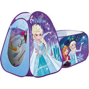 Палатка с туннелем  Холодное сердце, голубая John. Цвет: разноцветный