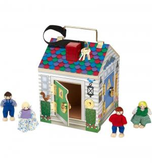 Дом с замками  Создай свой мир 22 см Melissa&Doug