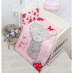 Детское постельное белье 3 предмета Mona Liza, Me to You Малышка Тедди, розовый Мона Лиза
