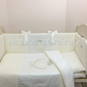 Комплект в кроватку  Premium герб 120х60 (6 предметов) Little Star