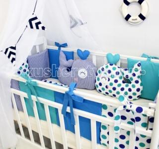 Комплект в кроватку  Маленький Кит (17 предметов) ByTwinz