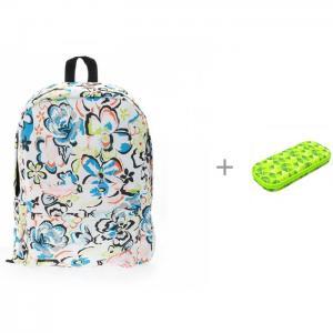 Рюкзак Цветы с пеналом Zipit Colorz Box 3D Bags