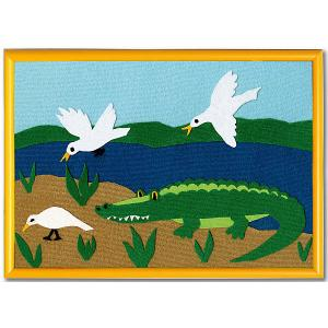 Набор  Аппликация Крокодил с рамкой, 30х21 STIGIS