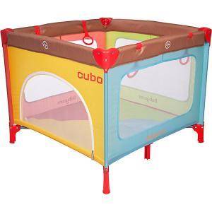 Манеж  Cubo, разноцветный Baby Care. Цвет: разноцветный