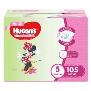 Подгузники  Ultra Comfort 5 для девочек (12-22 кг) 105 шт. Huggies