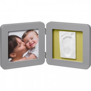 Фоторамка двойная, , серый, подложка коралловая/бирюзовая/салатовая/фиолетовая Baby Art. Цвет: серый
