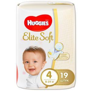 Подгузники  Elite Soft 4 (8-14 кг) 19 шт. Huggies