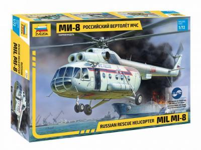 Сборная модель Российский вертолёт МЧС МИ-8 Звезда