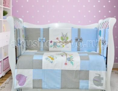 Комплект в кроватку  ЛДР076 (8 предметов) Лапуляндия