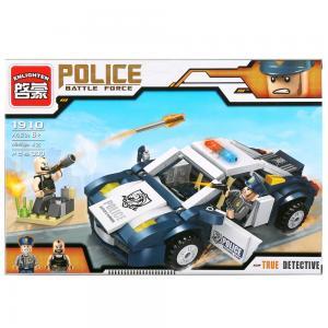 , Конструктор пластиковый Полицейская машина с фигурками и аксесс., 303дет. Enlighten Brick
