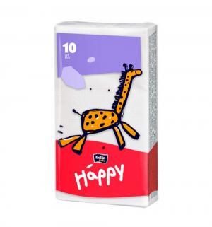 Платочки гигиенические 3-х слойные  Baby Happy, 10 шт Bella