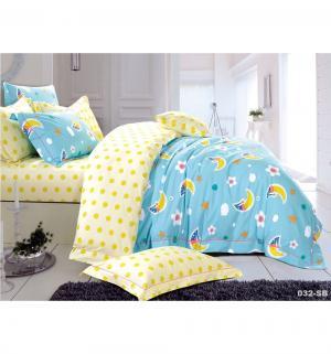 Комплект постельного белья , цвет: голубой 3 предмета Cleo