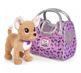 Мягкая игрушка  собачка Путешественница с сумкой-переноской 20 см Chi-Chi Love