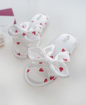 Тапочки Шёлковые сердечки Caramella
