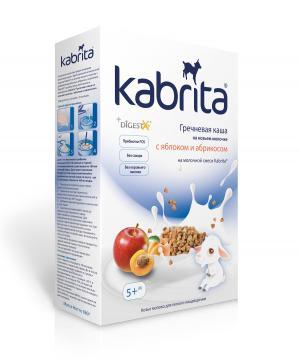 Каша  молочная гречневая с яблоком и абрикосом на козьем молоке 5 месяцев 180 г Kabrita