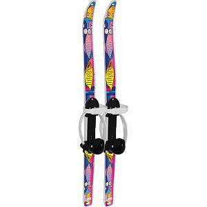 Лыжи детские Быстрики с палками, Коты (90/90) Цикл. Цвет: белый