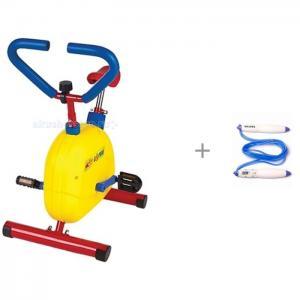 Велотренажер механический и Bradex Скакалка со счётчиком прыжков Контроллер Moove&Fun