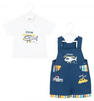 Комплект футболка/полукомбинезон , цвет: синий Bony Kids