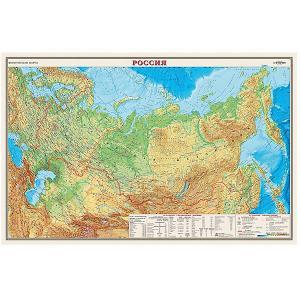 Карта России, Физическая, 1:9,5М Издательство Ди Эм Би