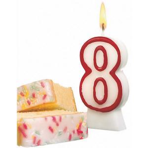 Свеча-цифра для торта  8 8,5 см, красная Susy Card