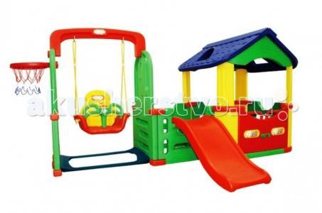 Детский игровой комплекс для дома и улицы Мульти-Хаус JM-804С Happy Box