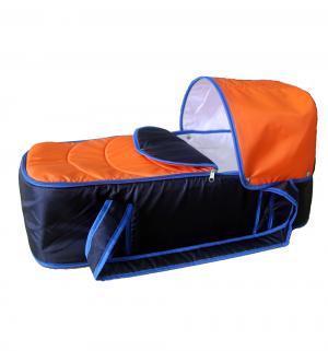 Люлька-переноска  Кокон, цвет: синий/оранжевый Карапуз