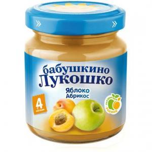 Пюре  яблоко-абрикос с 4 месяцев, 100 г Бабушкино лукошко