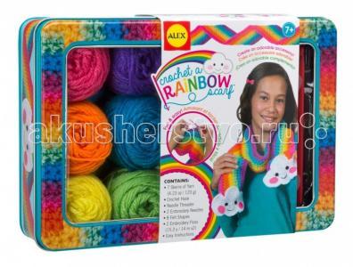 Набор для вязания крючком Радужный шарф Alex