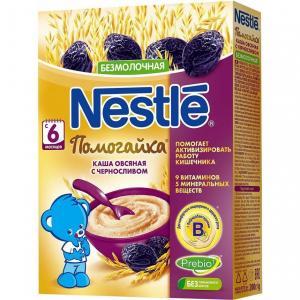 Каша  безмолочная овсяная с черносливом Помогайка 6 месяцев 200 г Nestle