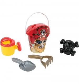 Игровой набор для песка  красный от 14 до 23 см S+S Toys