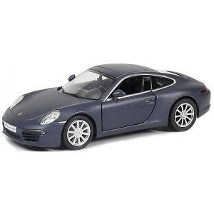 Металлическая машинка  Porsche 911 Carrera S 2012 1:32, темно-синий матовый RMZ City
