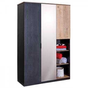 Шкаф  трехстворчатый Black Cilek