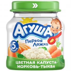 Пюре  цветная капуста-морковь-тыква с 5 месяцев, 80 г Агуша