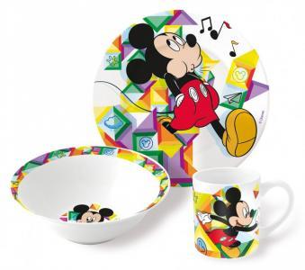 Набор посуды керамической Микки Цветовой поток (3 предмета) Stor