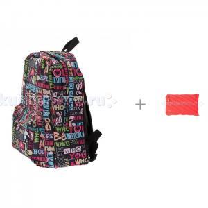 Рюкзак Хиппи с пеналом-сумочкой Neon Jumbo Pouch 3D Bags