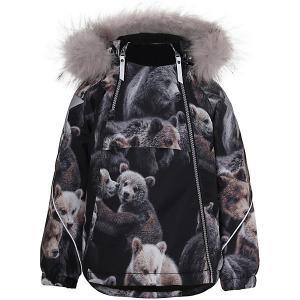 Утеплённая куртка Molo. Цвет: коричневый