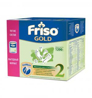 Заменитель молока  Gold 2 с пребиотиками 6-12 месяцев, 1200 г, 1 шт Friso
