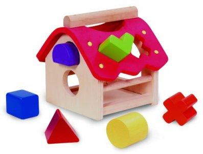 Деревянная игрушка  Сортер Домик Wonderworld