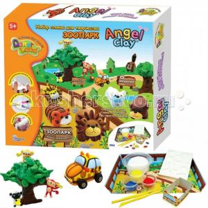 Игровой набор массы для лепки Зоопарк на русском языке Angel Clay
